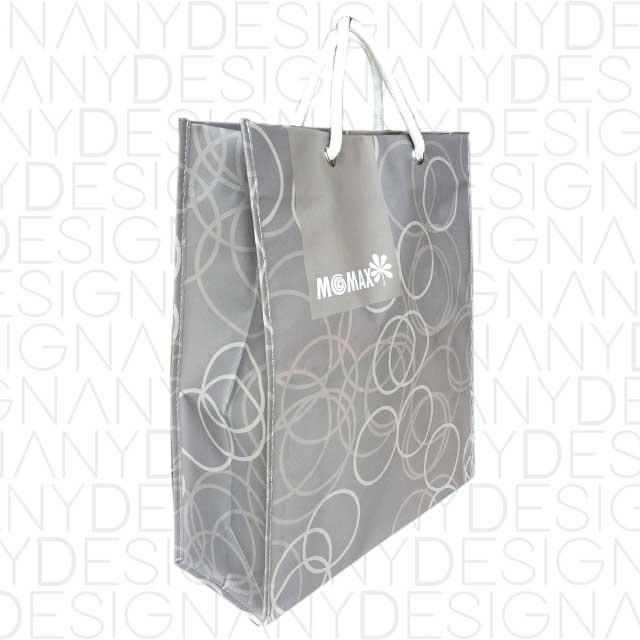 produzione di shopping bag in carta e PP