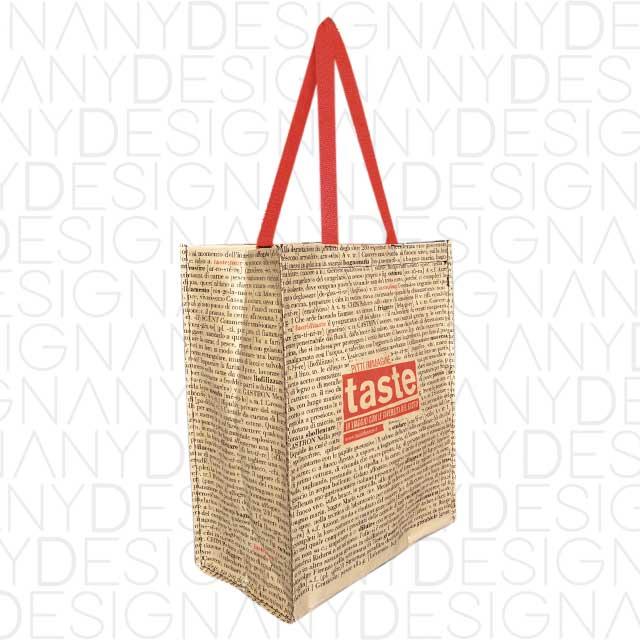 produzione di shopping bag in carta e polipropilene