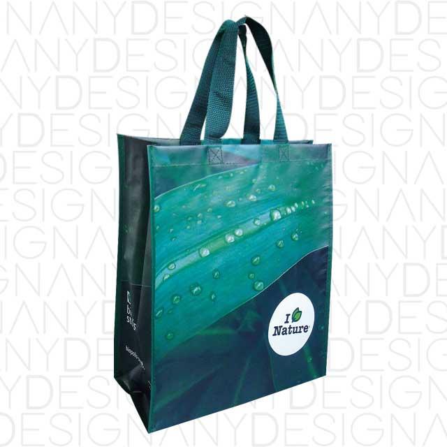 produzione di borse aperte in polipropilene con laminazione lucida