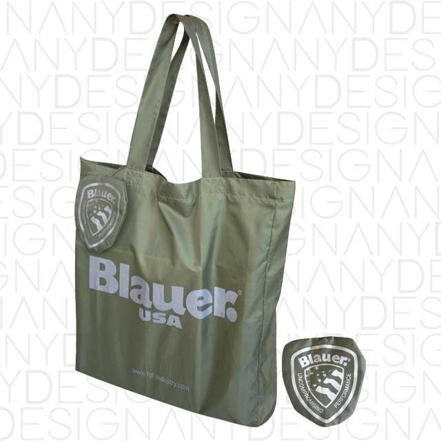 Produzione shopping bag in poliestere ripiegabile